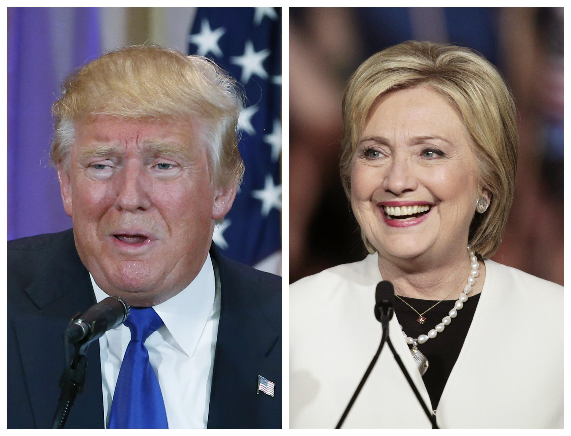 El candidato republicano, Donald Trump y la candidata demócrata Hillary Clinton.