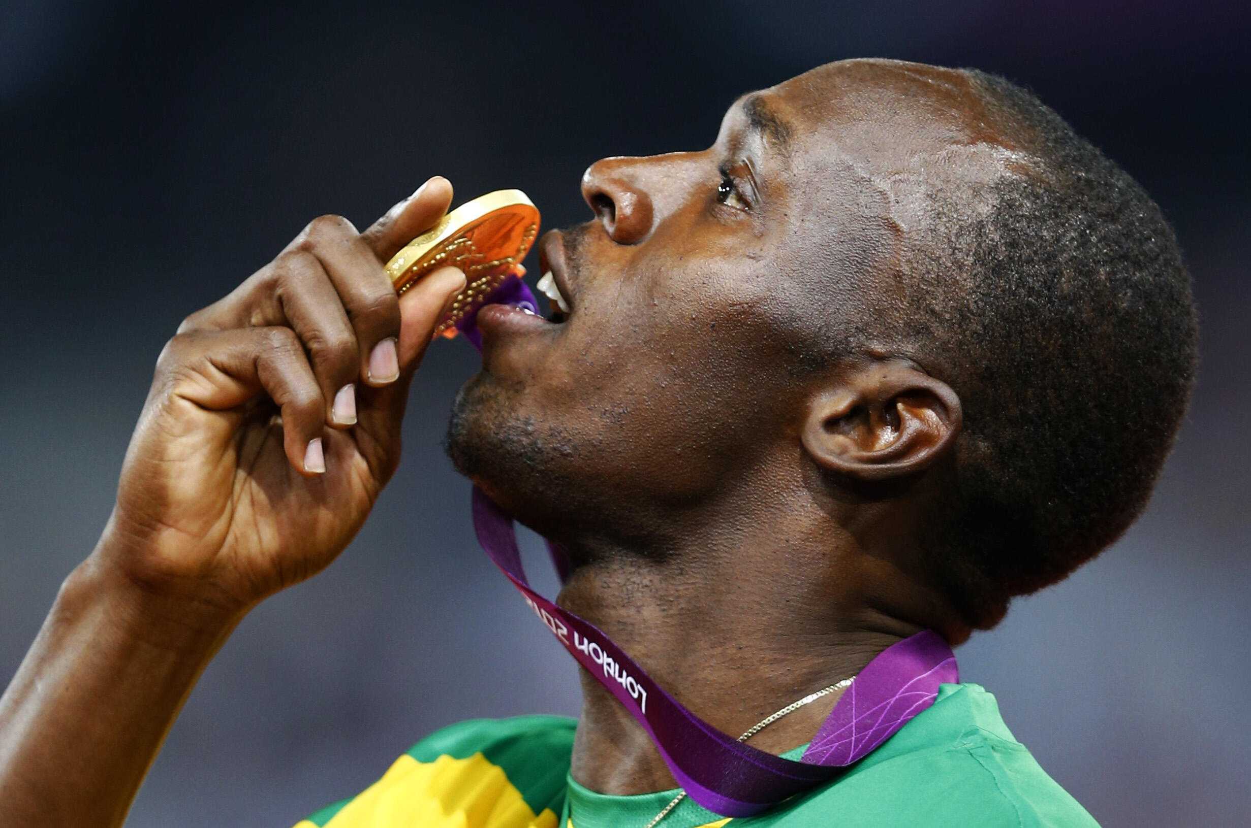 Usain Bolt after winning the men's 200m finale, 9 August, 2012
