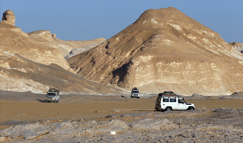 O deserto ocidental egípcio é uma região bastante visitada por turistas