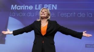 Лидер Национального фронта Марин Ле Пен в Париже 19 ноября 2011