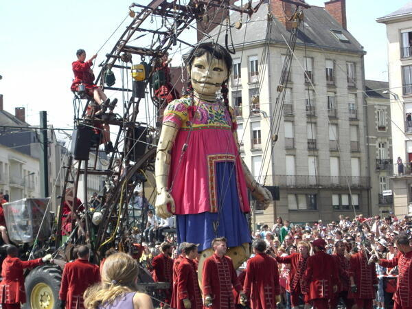 A giant puppet On the streets of Nantes