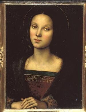 """""""Santa María Magdalena"""" El Perugino, hacia 1500-1502. © Soprintendeza Speciale per il Patrimonio Storico Artistico ed Etnoantropologico e per il Polo Museale della Città di Firenze."""