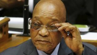 Rais wa Afrika Kusini, Jacob Zuma, 17 Machi 2016.