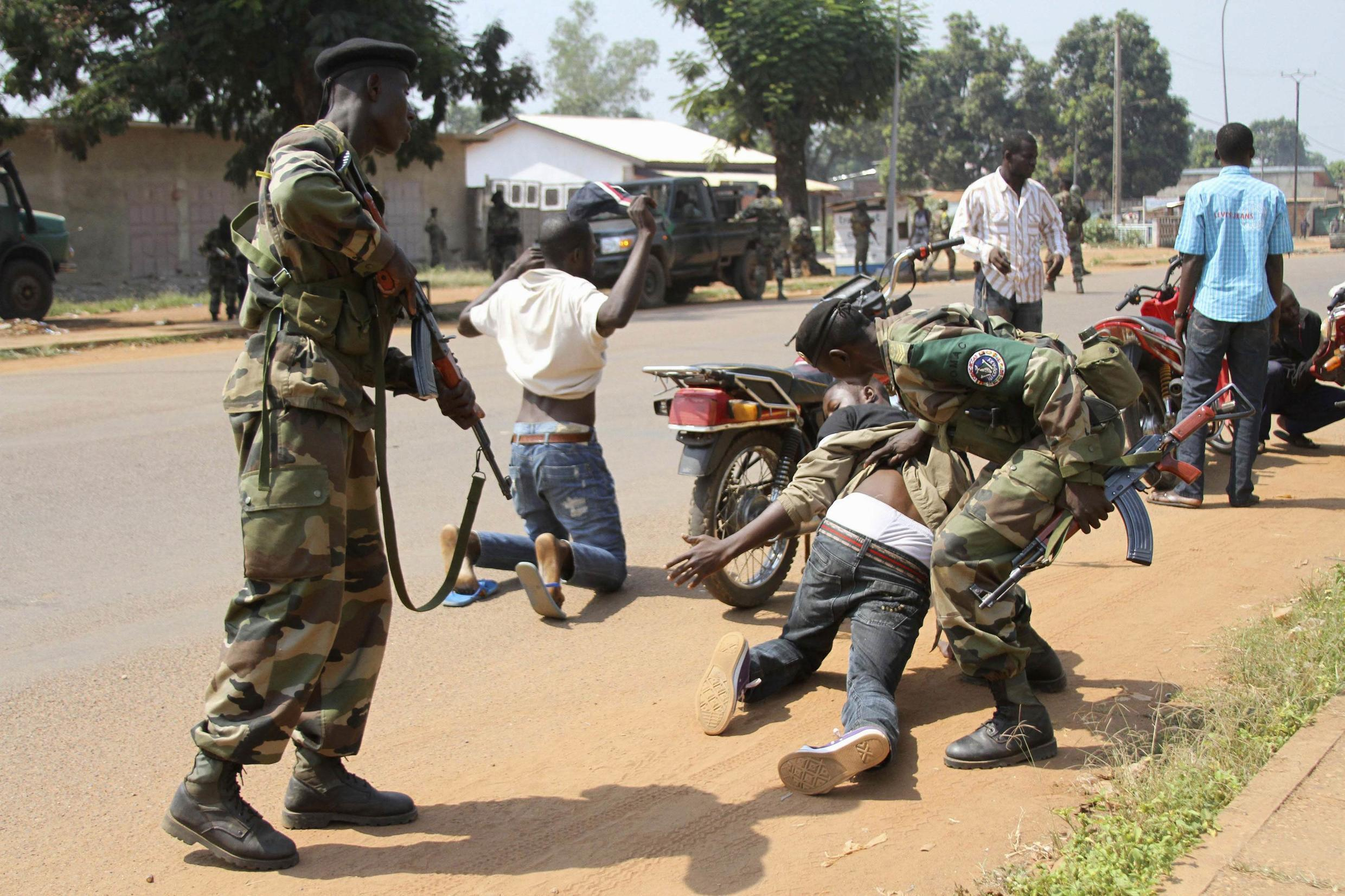 African forces in Bangui this month