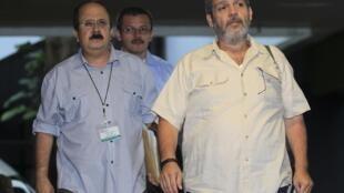 Miembros de las FARC en La Habana, Cuba.