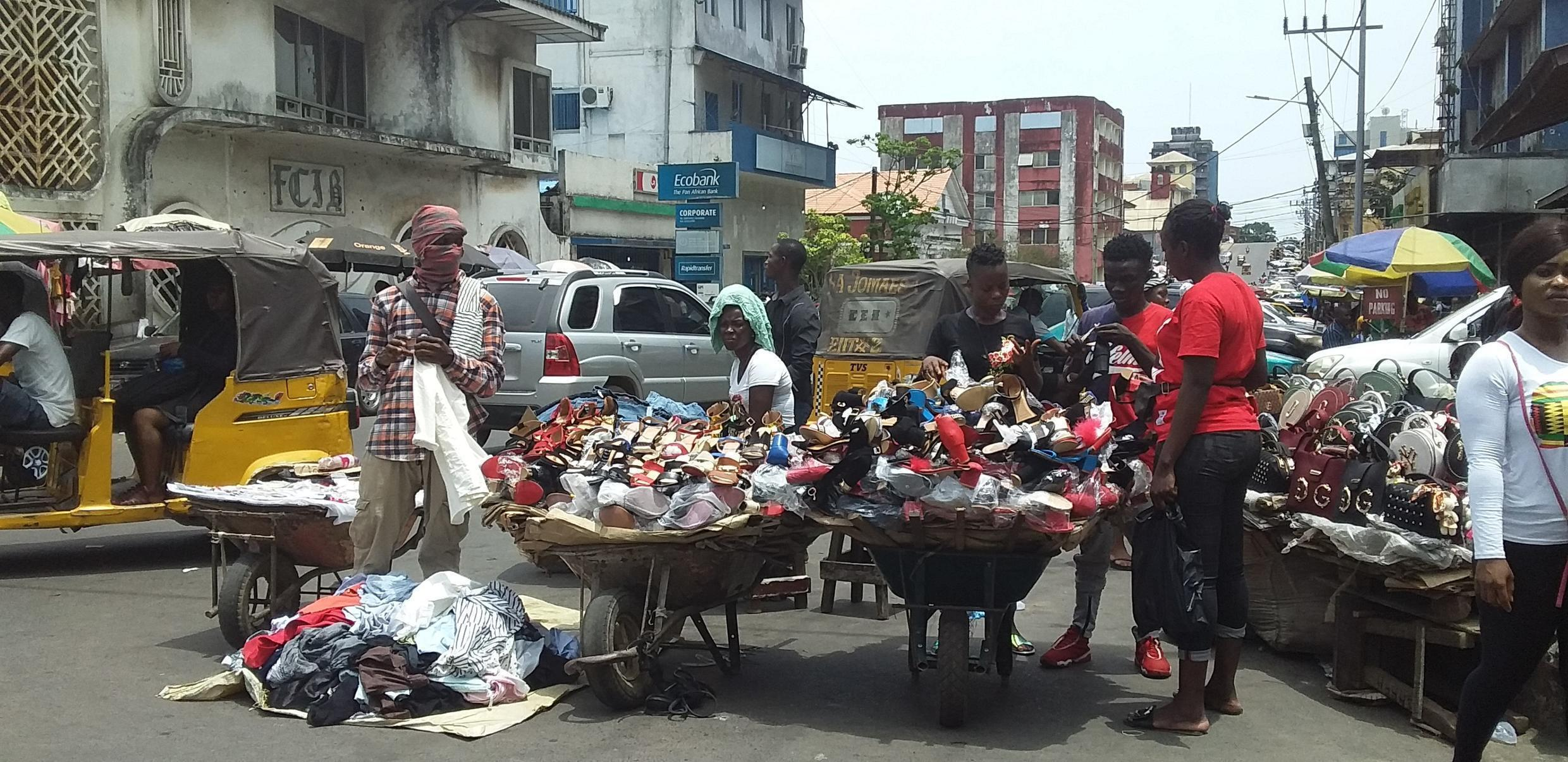On the streets of Monrovia, Liberia, some people are covering their faces in any way possible to avoid Coronavirus