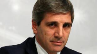 El presidente del Banco Central, Luis Caputo, en la foto, es reemplazado por Guido Sandleris.