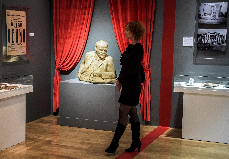 Busto de Lenin en el museo de Historia política de San Petersburgo.