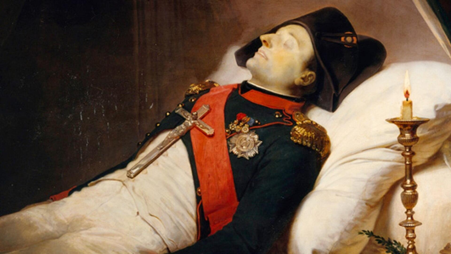 Napoleon portrait in death