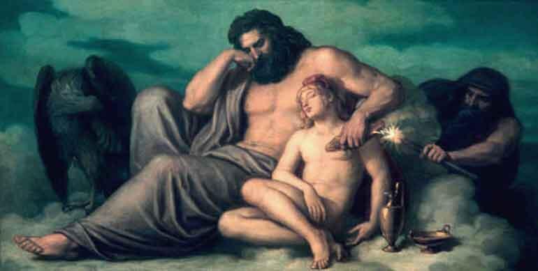 """Христиан Грипенкерль """"Похищение огня Прометеем"""" (Зевс и Ганимед)"""