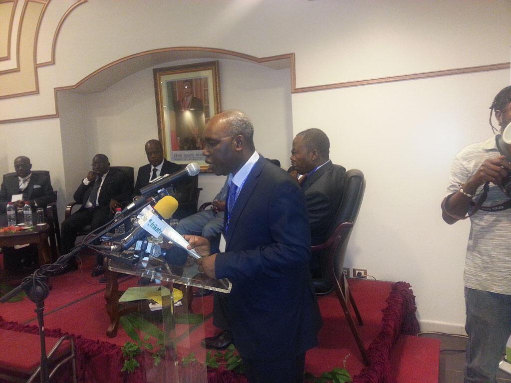 Sylvestre Didier Mavouenzela, président de la Chambre de commerce, d'industrie, d'agriculture et des métiers de Pointe-Noire.