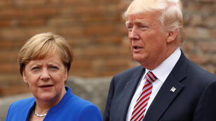 Angela Merkel et Donald Trump, lors du sommet du G7 à Taormine, le 26 mai 2017.
