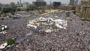 Tahrir square in Cairo on Friday