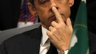France President Sarkozy at the 16th African Union Summit in Ethiopia's capital Addis Ababa
