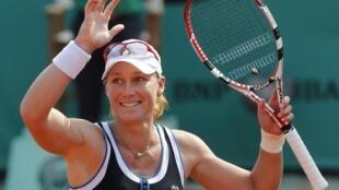 La sonrisa de Samantha Stosur. La australiana superó a Serena Williams.