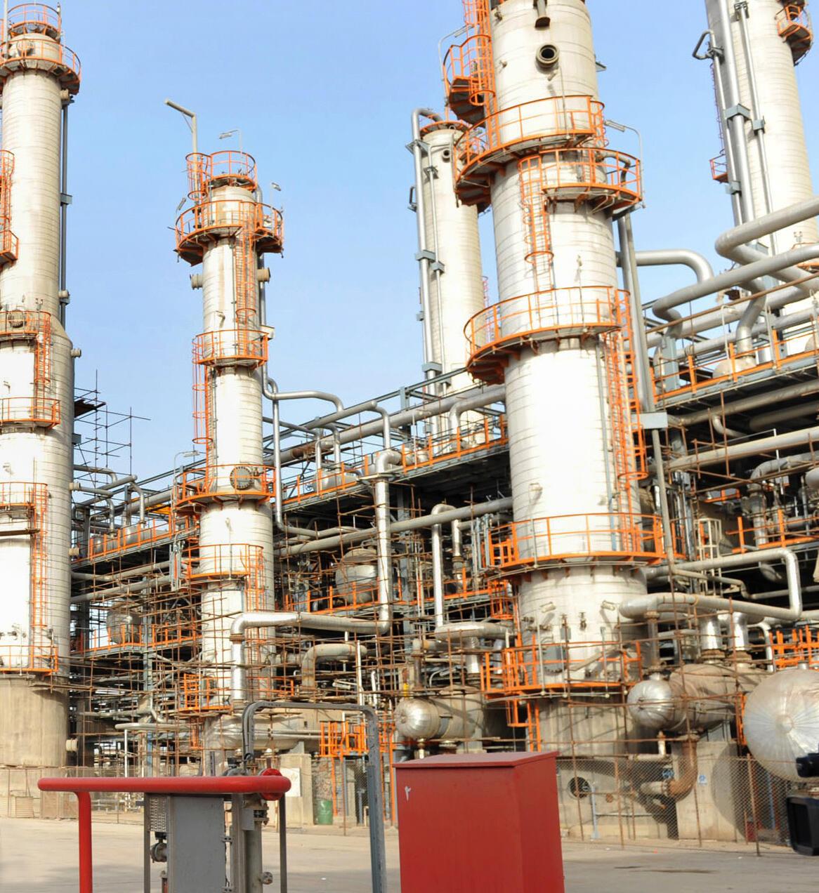 Une raffinerie à Abadan, en Iran.