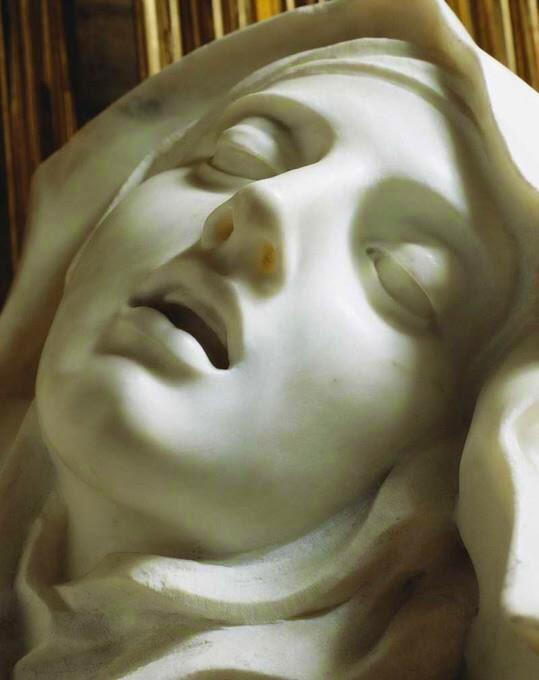 Extasis de Santa Teresa  por Gian Lorenzo Bernini, Santa Maria della Vittoria, Roma.