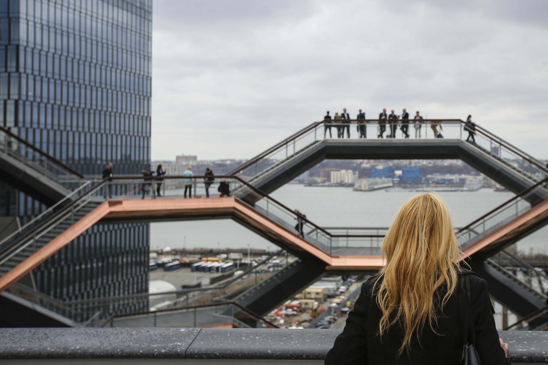 « The Vessel » la structure d'art publique composée de 155 volées d'escaliers.