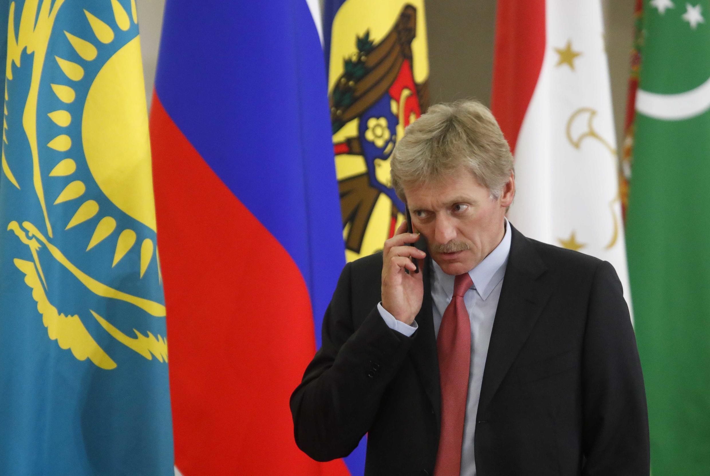 Pour le porte-parole du Kremlin, Dmitri Peskov (ici en octobre 2017), ces sanctions sont une «preuve de faiblesse plus que de force».