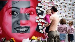 Une fresque à Dublin représente Savita Halappanavar, une dentiste indienne de 31 ans morte en 2012 suite au refus des médecins d'interrompre sa grossesse.