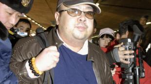 圖為金正男2007年2月11日抵達中國北京機場照片