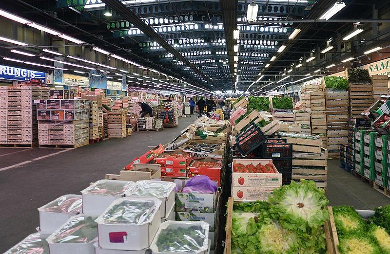 Le marché de Rungis.