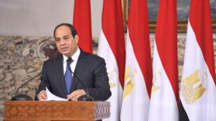 Abdel Fattah al-Sisi trong lễ nhậm chức tổng thống Ai Cập tại Cairo ngày 8/6/2014.