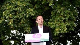 Benoît Hamon le 1er juillet 2017 lors du lancement de son mouvement.
