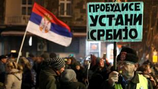 Hàng ngàn người Serbia xuống đường hôm 12/01/2019 đòi hỏi tự do báo chí và chấm dứt đàn áp đối lập.