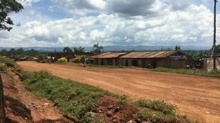 The main road that runs through the town of Bingo, North Kivu, DRC.