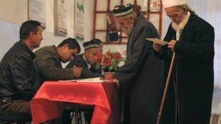 Một phòng bỏ phiếu, bầu cử Tổng thống Tadjikistan, 06/11/2013