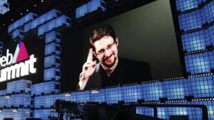 L'ancien agent de la NSA, Edward Snowden, ici lors d'une visioconférence le 4 novembre 2019, est l'un des héros évoqués dans le quatrième festival Paroles Citoyennes, du 6 au 28 avril 2021.