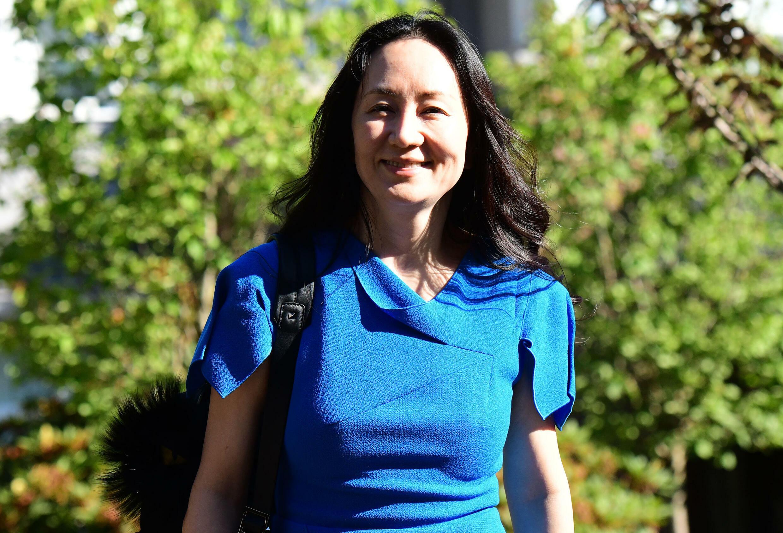 La directora financiera de Huawei, Meng Wanzhou, sale de su domicilio para ir a la Corte Suprema de Colombia-Británica en Vancouver, Canadá, el 4 de agosto de 2021