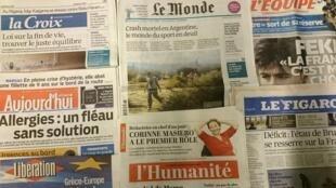 Primeiras páginas diários franceses 10/03/2015