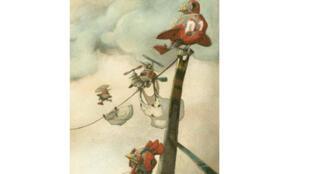 """Illustration de l'Album """"Ici reposent les oiseaux"""" d'Etienne Friess et Anne-Fleur Drillon"""