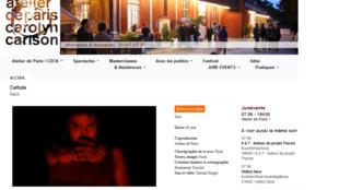 Capture d'écran du site Atelier de Paris.