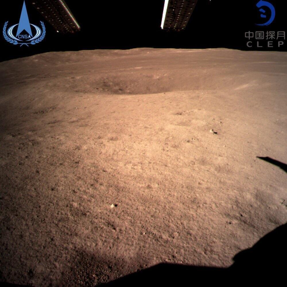 Primera imagen enviada pelo Chang'e-4 da face oculta da lua.