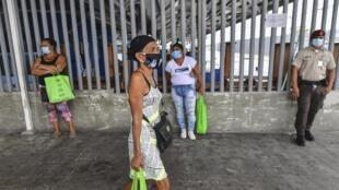 Dans une rue de Panama City, le 24 avril 2020.