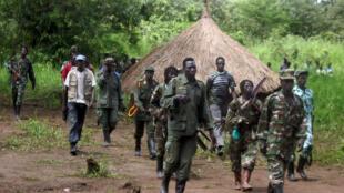 Rebelles de la LRA en septembre 2006 à la frontière entre le Soudan et la RDC.