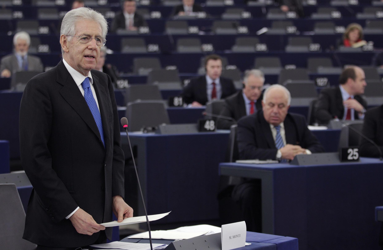 El premier italiano Mario Monti.