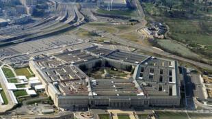 Vista aérea del edificio del Pentágono, en Washington