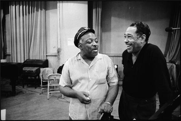 Duke Ellington et Count Basie, New York, 1961.