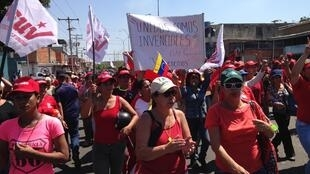 A Valencia, ville industrielle, le pouvoir a mobilisé ses partisans vendredi 1er février, à la veille d'un grand rassemblement de l'opposition.