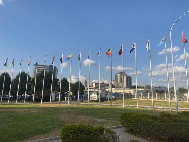 A sede da União Africana em Adis Abeba, na Etiópia.A instituição  foi originalmente chamada Organização da Unidade Africana. A sua criação data de 25 de Maio de 1963 e foi a mesma que decidiu celebrar o Dia da África .