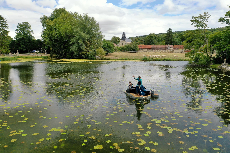 Дуэт проекта PianO du lac в замке Рикбур 24 июля 2020.
