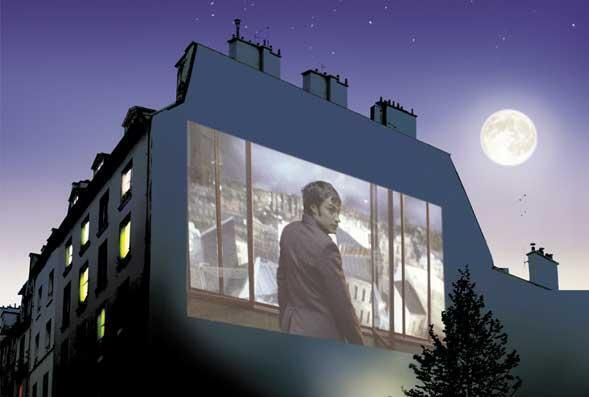 Festival Cinéma au Clair de Lune transforma ruas de Paris em sala de projeção à céu aberto.