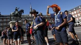 Jovens católicos do mundo todo reúnem-se na capital espanhola.