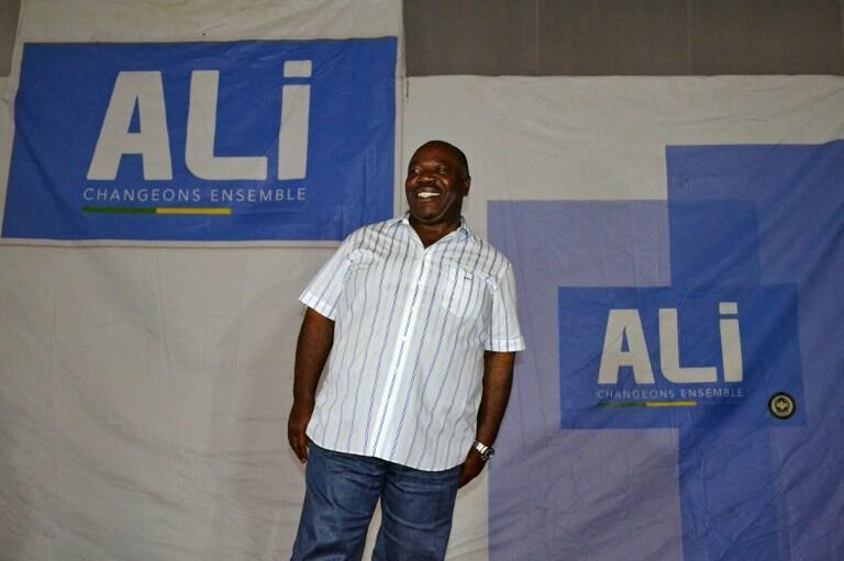 Ali Bongo, presidente reeleito do Gabão. 8 de Agosto de 2016.
