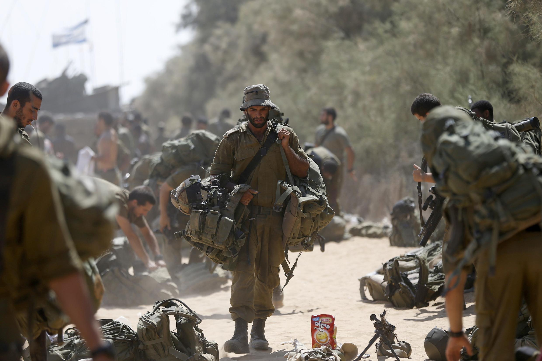 Lính Israel từ Gaza trở về. Ảnh ngày 05/08/2014.
