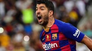 L'attaquant uruguayen du FC Barcelone Luis Suarez lors de la demi-finale de Supercoupe d'Espagne entre le Barça et l'Atlético Madrid le 9 janvier 2020 à Jeddah (Arabie Saoudite).